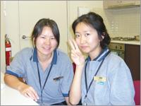 同じくインターンシップで働いている韓国人の友達と