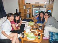 インターン仲間と食事