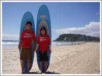 サーフィン体験は一日から可能
